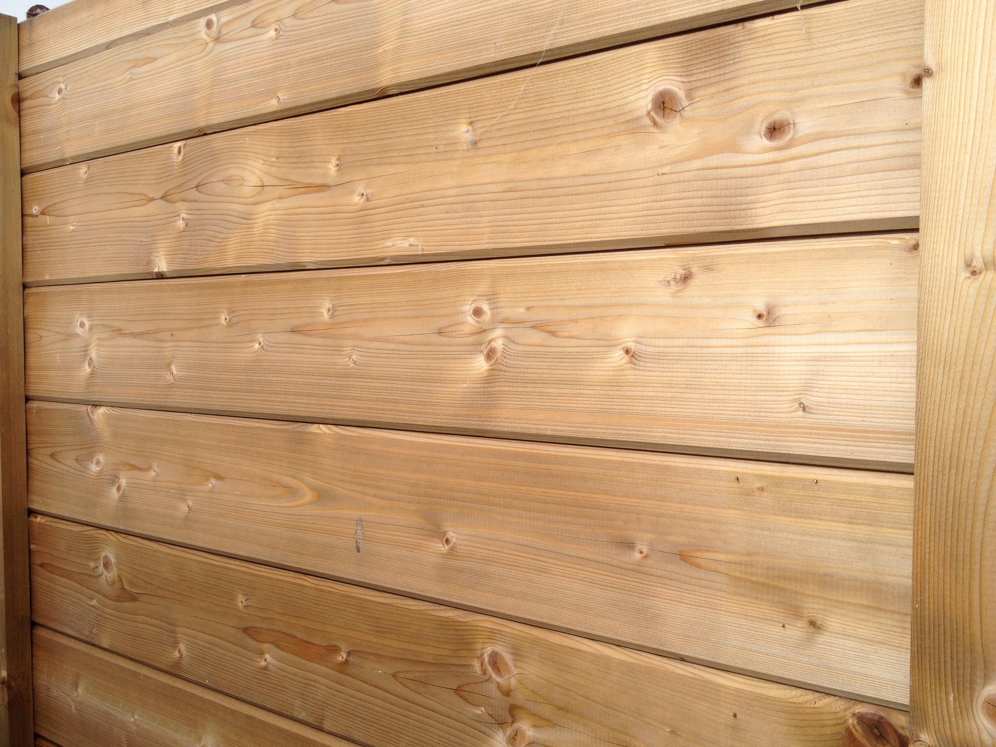 Tasseau Bois Exotique Exterieur lame clôture bois 27x130mm - traité classe 3